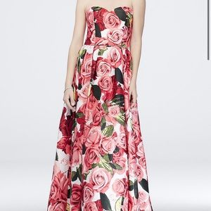 Like-New Floral Prom Dress!!